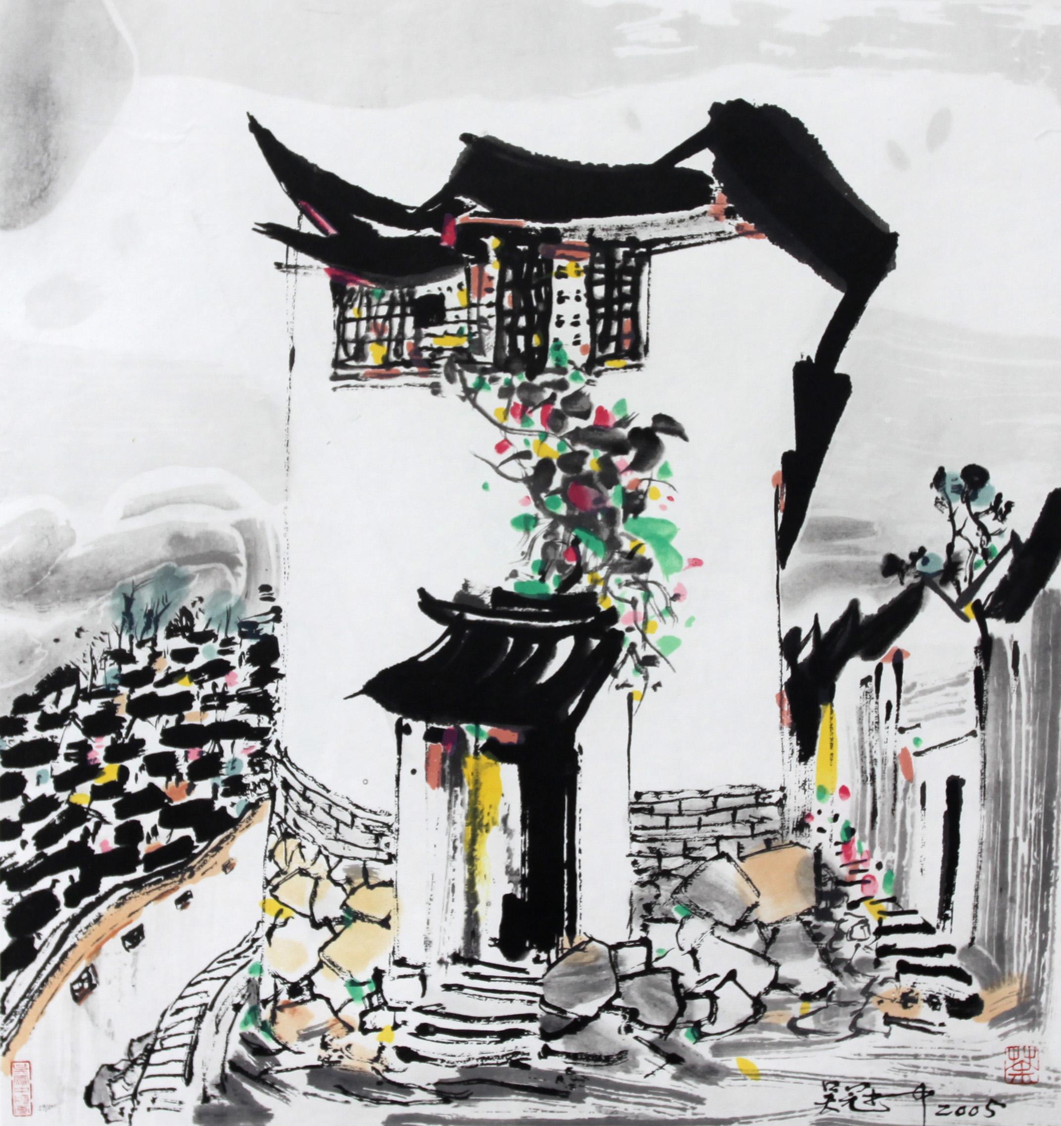 故宫手绘作品  彩色